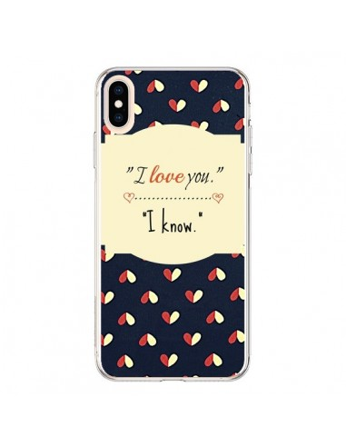 Coque iPhone XS Max I love you - R Delean