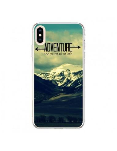 Coque iPhone XS Max Adventure the pursuit of life Montagnes Ski Paysage - R Delean