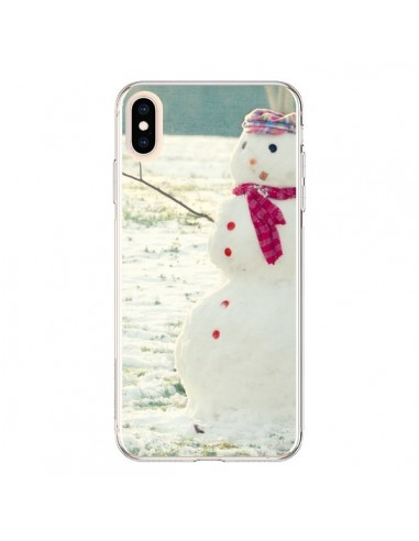 Coque iPhone XS Max Bonhomme de Neige - R Delean
