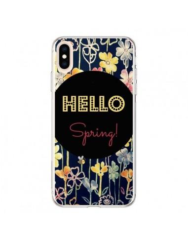 Coque iPhone XS Max Hello Spring - R Delean