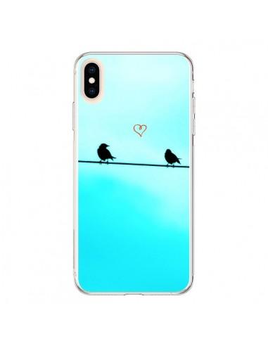Coque iPhone XS Max Oiseaux Birds Amour Love - R Delean