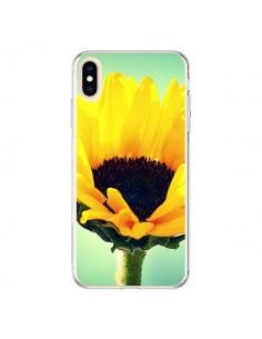 Coque iPhone XS Max Tournesol Zoom Fleur - R Delean