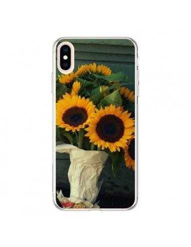 Coque iPhone XS Max Tournesol Bouquet Fleur - R Delean