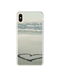 Coque iPhone XS Max Coeur Plage Beach Mer Sea Love Sable Sand - R Delean