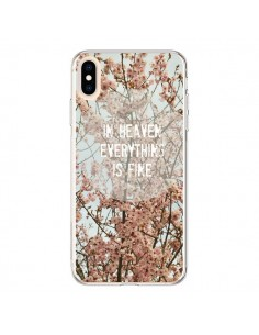 Coque iPhone XS Max In heaven everything is fine paradis fleur - R Delean