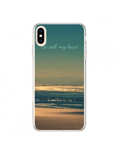 Coque iPhone XS Max Be still my heart Mer Sable Beach Ocean - R Delean