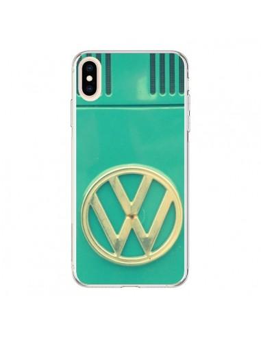 Coque iPhone XS Max Groovy Van Hippie VW Bleu - R Delean