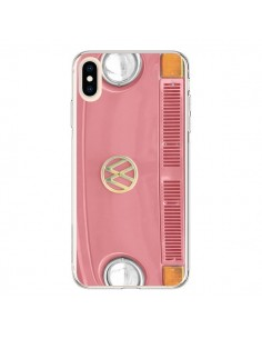 Coque iPhone XS Max Groovy Van Hippie VW Rose - R Delean