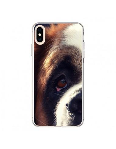 Coque iPhone XS Max Saint Bernard Chien Dog - R Delean