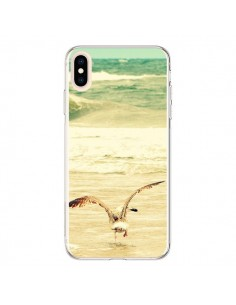 Coque iPhone XS Max Mouette Mer Ocean Sable Plage Paysage - R Delean