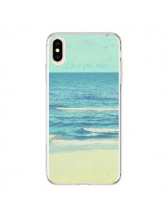 Coque iPhone XS Max Life good day Mer Ocean Sable Plage Paysage - R Delean