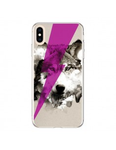 Coque iPhone XS Max Wolf Rocks - Robert Farkas