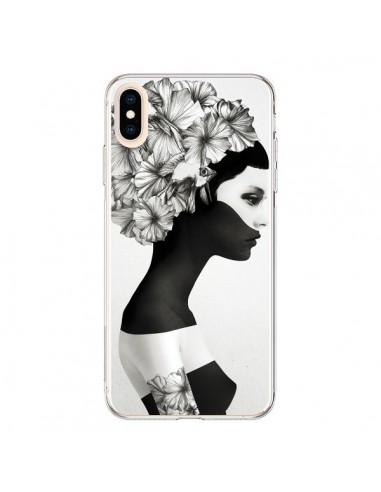 Coque iPhone XS Max Marianna Fille Fleurs - Ruben Ireland et Jenny Liz Rome
