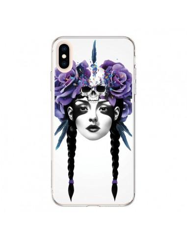 Coque iPhone XS Max Fille Fleurs Warrior - Ruben Ireland
