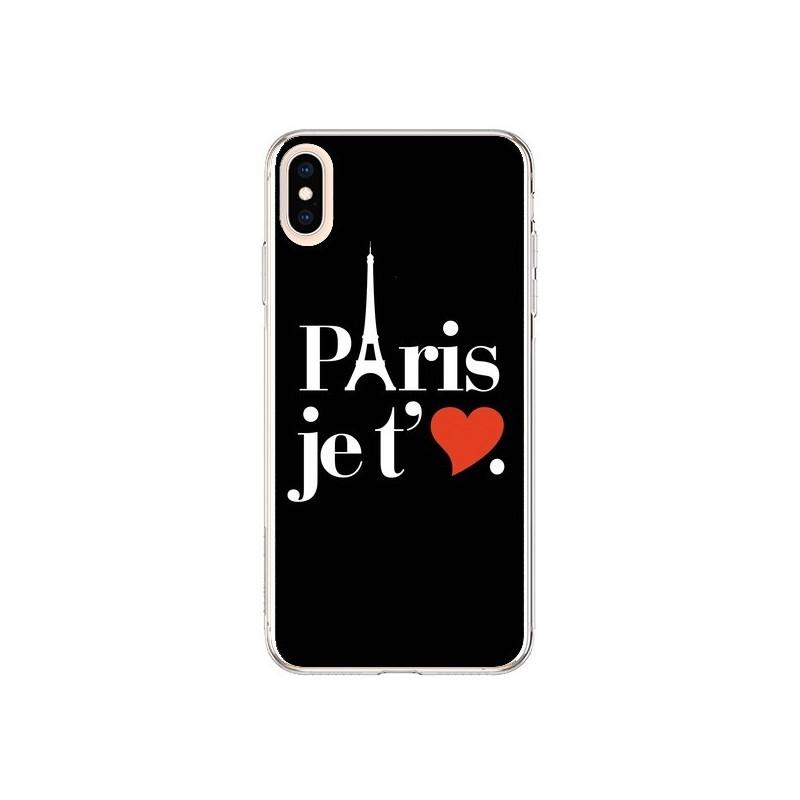 Coque iPhone XS Max Paris je t'aime - Rex Lambo
