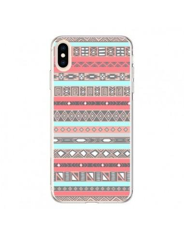Coque iPhone XS Max Azteque Aztec Rose Pastel - Rex Lambo