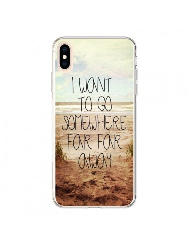 Coque iPhone XS Max I want to go somewhere - Sylvia Cook