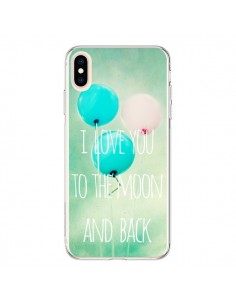 Coque iPhone XS Max I love you to the moon and back - Sylvia Cook