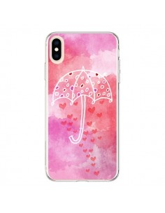Coque iPhone XS Max Parapluie Coeur Love Amour - Sylvia Cook