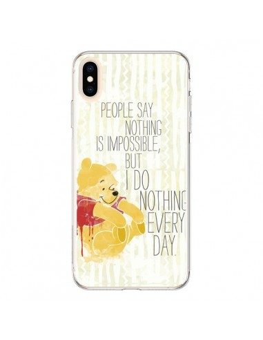 Coque iPhone XS Max Winnie I do nothing every day - Sara Eshak