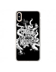 Coque iPhone XS Max Greetings from the kraken Tentacules Poulpe - Senor Octopus