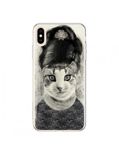 Coque iPhone XS Max Audrey Cat Chat - Tipsy Eyes