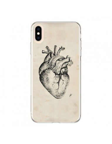 Coque iPhone XS Max Coeur Vintage - Tipsy Eyes
