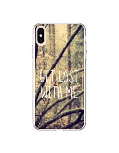 Coque iPhone XS Max Get lost with me foret - Tara Yarte