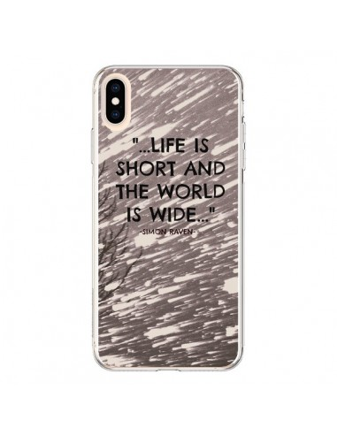 Coque iPhone XS Max Life is short Foret - Tara Yarte