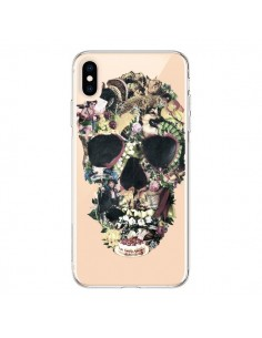 Coque iPhone XS Max Skull Vintage Tête de Mort Transparente souple - Ali Gulec