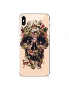 Coque iPhone XS Max Jungle Skull Tête de Mort Transparente souple - Ali Gulec