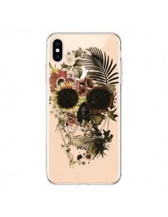 Coque iPhone XS Max Garden Skull Tête de Mort Transparente souple - Ali Gulec