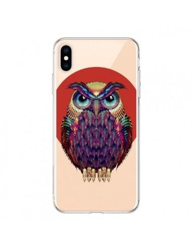 Coque iPhone XS Max Chouette Hibou Owl Transparente souple - Ali Gulec