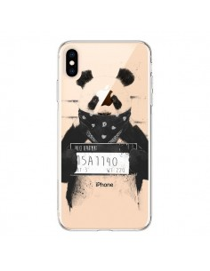 Coque iPhone XS Max Bad Panda Transparente souple - Balazs Solti