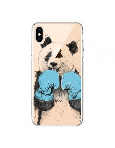 Coque iPhone XS Max Winner Panda Gagnant Transparente souple - Balazs Solti