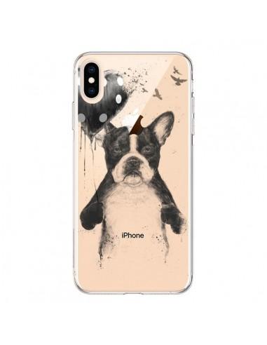Coque iPhone XS Max Love Bulldog Dog Chien Transparente souple - Balazs Solti