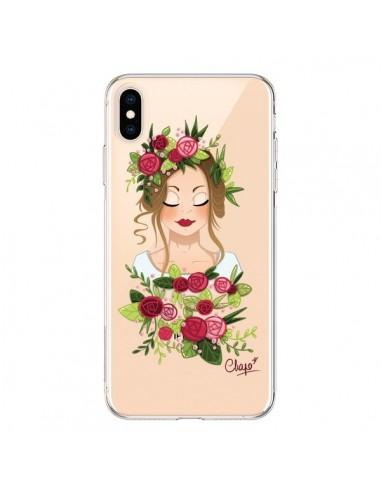 Coque iPhone XS Max Femme Closed Eyes Fleurs Transparente souple - Chapo