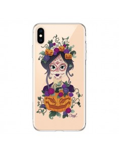 Coque iPhone XS Max Femme Closed Eyes Santa Muerte Transparente souple - Chapo