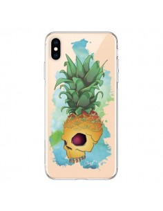 Coque iPhone XS Max Crananas Crane Ananas Transparente souple - Chapo