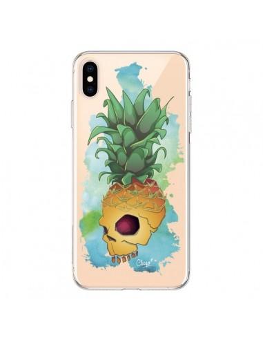 Coque iPhone XS Max Crananas Crane Ananas Transparente souple - Chapo
