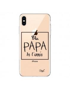 Coque iPhone XS Max Elu Papa de l'Année Transparente souple - Chapo