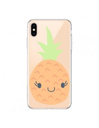 Coque iPhone XS Max Ananas Pineapple Fruit Transparente souple - Claudia Ramos