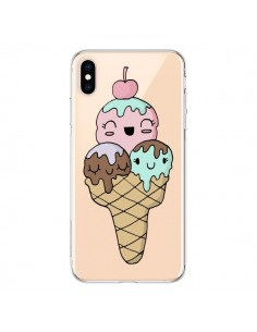 Coque iPhone XS Max Ice Cream Glace Summer Ete Cerise Transparente souple - Claudia Ramos