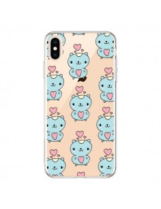 Coque iPhone XS Max Hamster Love Amour Transparente souple - Claudia Ramos