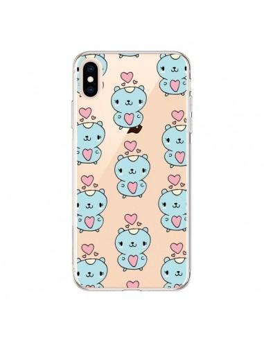 Coque iPhone XS Max Hamster Love Amour Transparente souple - Claudia Ramos