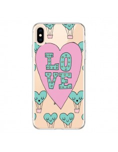 Coque iPhone XS Max Love Nuage Montgolfier Transparente souple - Claudia Ramos