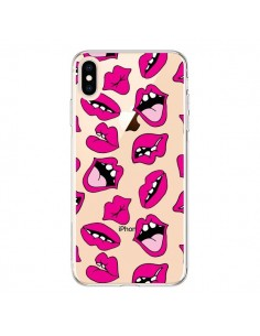 Coque iPhone XS Max Lèvres Lips Bouche Kiss Transparente souple - Claudia Ramos