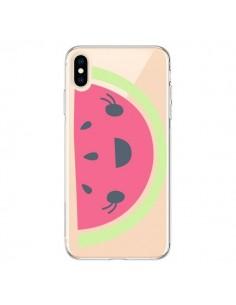 Coque iPhone XS Max Pasteque Watermelon Fruit Transparente souple - Claudia Ramos