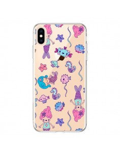 Coque iPhone XS Max Mermaid Petite Sirene Ocean Transparente souple - Claudia Ramos