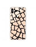 Coque iPhone XS Max Girafe Mosaïque Noir Transparente souple - Project M